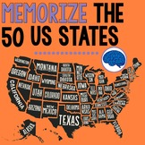 US Geography: Memorize & Research the 50 US States and Cap