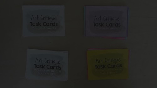 Art Critique, 50 Task Cards for Discussing Historical & Student Artworks