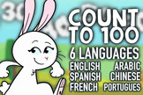 Counting to 100 In 6 Languages with Dictionary and Colorin
