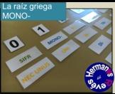 La raíz griega MONO-