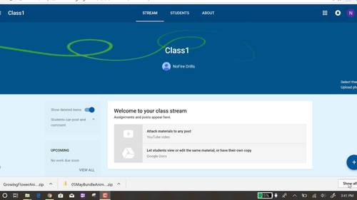 Google Classroom Animated Theme (Growing Flower)