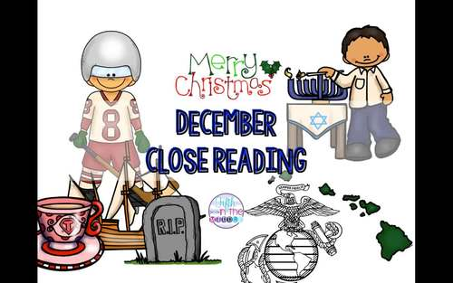 December Nonfiction Close Reading Comprehension Passages and Questions