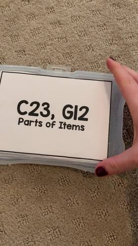 Parts of Items Task Cards [ABLLS-R Aligned C23, G12]