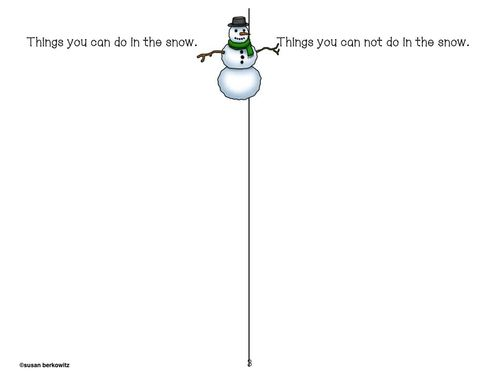 Language Activities for Max and Mo Lets Make a Snowman