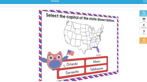 States and Capitals Digital Boom Cards