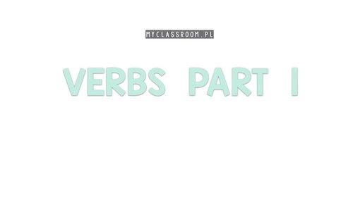Verbs part 1 - Interactive book