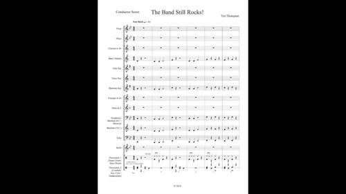 The Band Still Rocks! - rock piece for beginning band