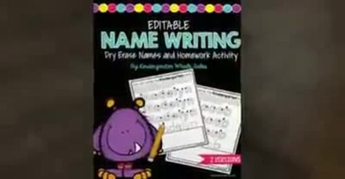 Monster Name Writing:  Writing the Right Way