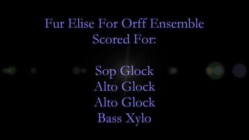 Fur Elise For Orff Ensemble