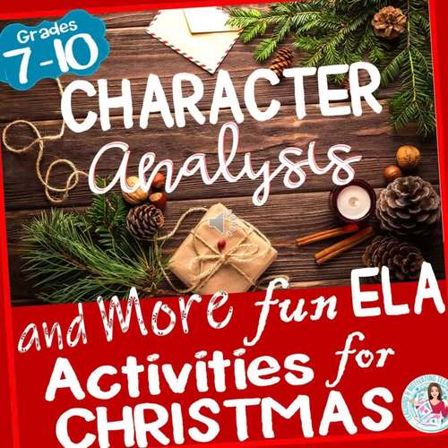 Christmas Character Analysis, Symbolism, Writing and More - Activities for ELA