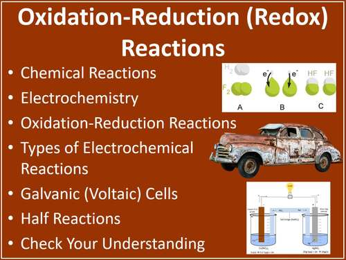 Oxidation-Reduction Reactions - PowerPoint Lesson and Student Notes Package