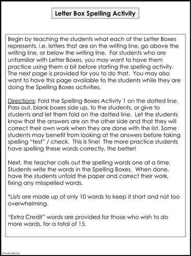 Modified Spelling Activities For 4th  Grade {'i' words}