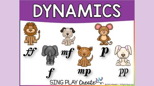 Music Class Dynamics Lesson, Song, Games, Worksheets, Flashcards