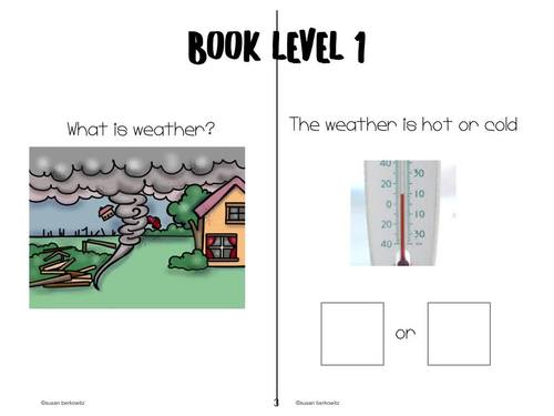 The Weather Informational Differentiated Text Special Education Speech Therapy