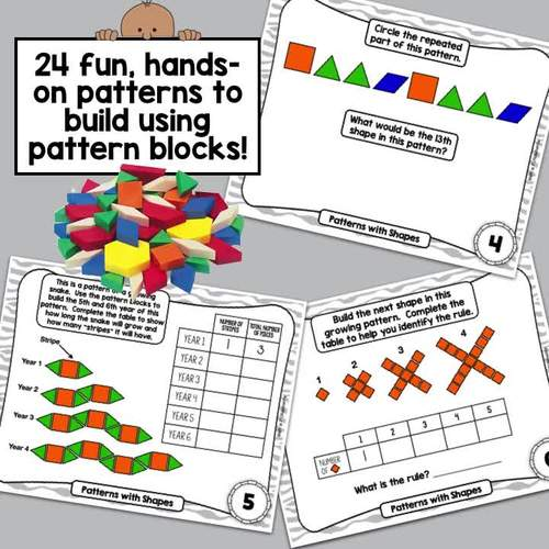 Patterns With Shapes - Hands-on Fun with Pattern Blocks! CCSS  4.OA.C.5