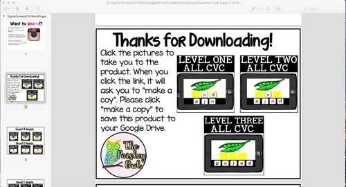 Google Classroom CVC Activity **GROWING**  Bundle - Digital Centers