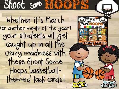 Shoot Some Hoops Boom Cards -  Treble Clef Bundle (Digital Task Cards)