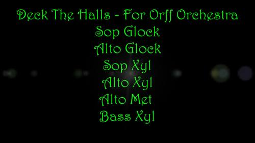 Deck The Halls - For Orff Orchestra
