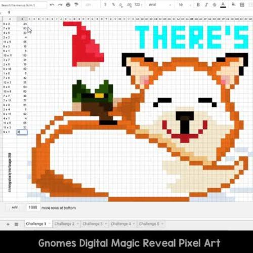 Google Sheets Digital Pixel Art Magic Reveal DECEMBER BUNDLE: MULTIPLICATION