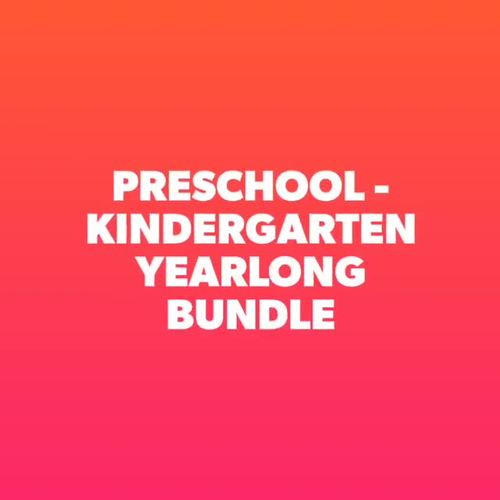 PreK - Kindergarten Activities Yearlong Bundle