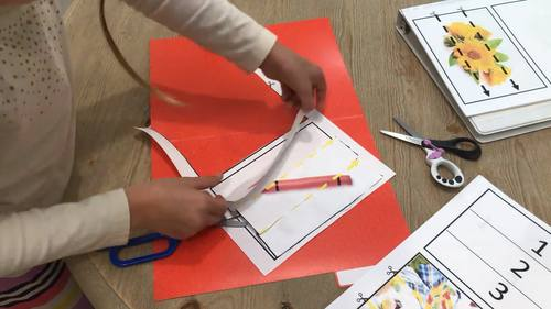 Cut and Paste Fine Motor: April