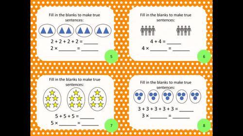 3rd Grade Operations & Algebraic Thinking Math Task Cards