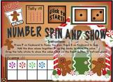 GINGERBREAD Number Subitizing Digital Interactive Game Vid