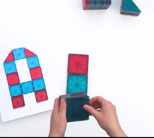 Magnetic Tiles Idea Cards: Uppercase Letters of the English Alphabet