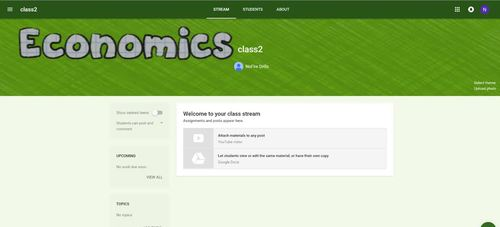 Google Classroom Animated Theme (Economics)