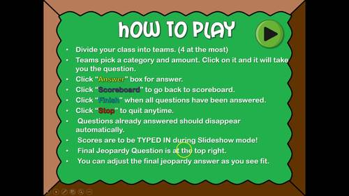 Fractions Powerpoint Game