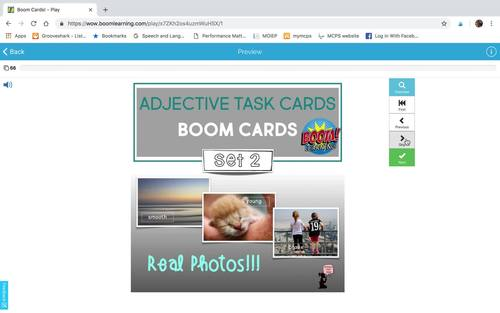 Adjective No Prep - No Print BUNDLE - Adjective Worksheets & BOOM Cards™