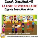"17 French Class Transition Video ""Vocabulary"" for CI TCI T"
