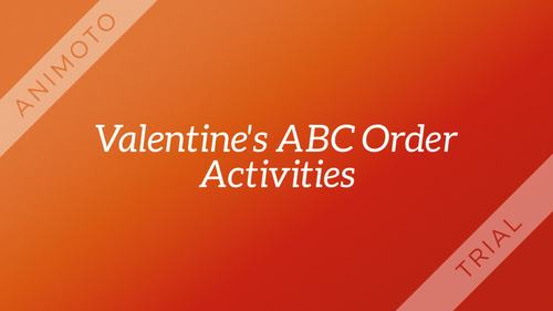 Valentines Day ABC Order Craftivities and Games, Advanced Vocabulary