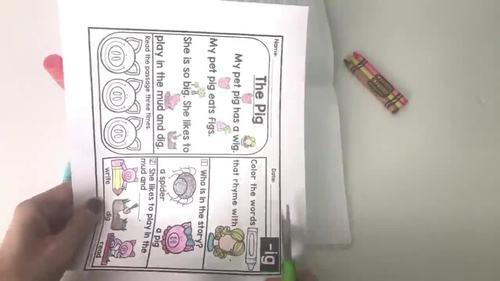 Kindergarten Blend Reading Passages