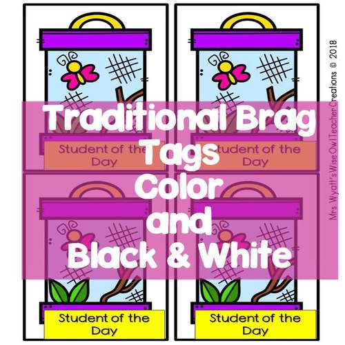 Brag Tags with Interactive Notebooks