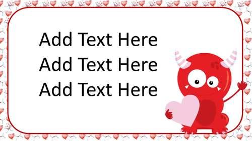 Valentine's Day PowerPoint Editable 40 Slides