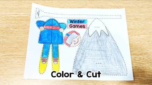 Winter Games Skiing & Snowboarding: One Page Craftivity