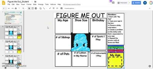 Digital Activity: Figure Me Out