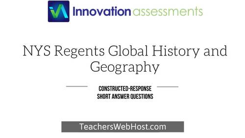 "Regents Global 10 Constructed Response (""CRQ""), Frameworks 10.4 No. CRQ393279"