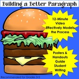 Writing Paragraphs Video, Handouts, and Posters (Anchor Charts)