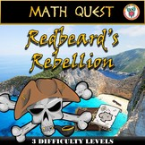 End of the Year Math Review - Pirate Math Quest