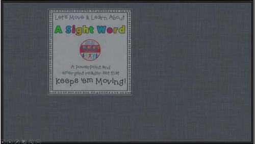 Sight Word Activity - PowerPoint and Emergent Reader for the sight word TIME