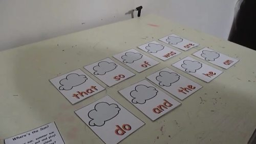 Summer Sight Word Recognition Center or Whole Group Game for PrePrimer List