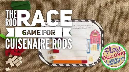 PDL's Equivalent Fraction Barnyard Race Game for Cuisenaire® Rods