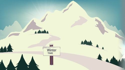 5 Animated Video Backgrounds - Snow Scenery #2