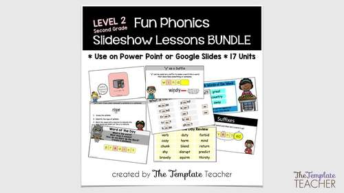 Second Grade Phonics Slideshow Lessons - Unit 4