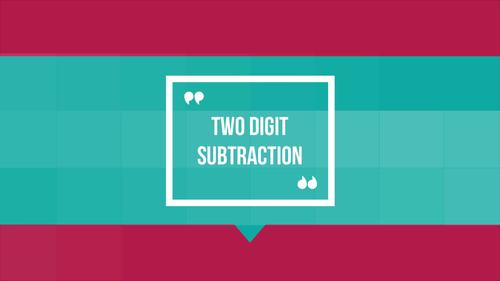 Two Digit Subtraction with Regrouping BUNDLE for the Google Classroom