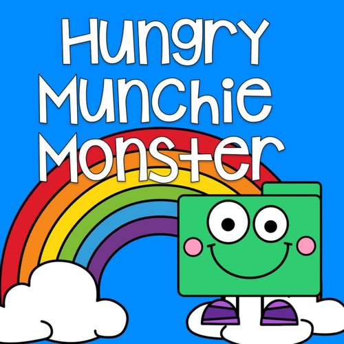 Sensory Bin Activities:  Hungry Munchie Monster Behavior Center