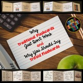 Spanish Interactive Notebook Trifold Flashcards:  What The