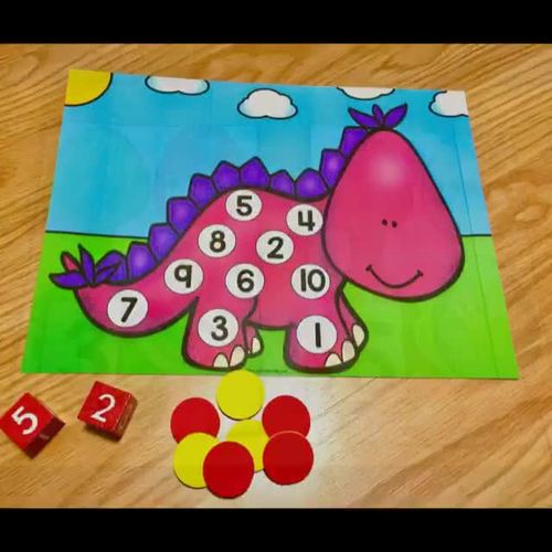 Dinosaur Math Adventure Number Sense for Pre-K & Kinder